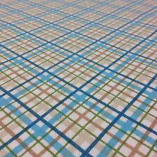 Cotton Curtain Fabric Material Bed Cushion sheet Multicolour Check