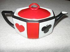 Antique/Vintage Czech China Tea Set Poker Suit Red/Black - Tea Pot & Lid