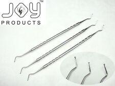 Dental Excavadoras Set 1.2 mm 1.5 mm 2 Mm x 3 compuesto restaurador instrumentos