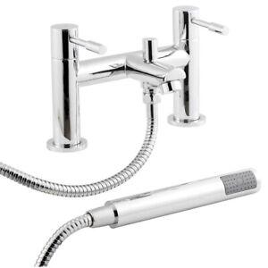 New Nuie Series 2 Bathroom Chrome Bath And Shower Mixer Lever Tap Kit FJ314
