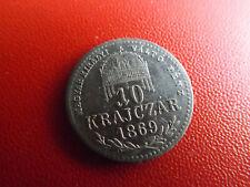 *Österreich-Ungarn 10 Krajczar 1869 K.B.Silber * Franz Josef (125)(Alb.4)