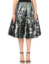 TED BAKER Constellation gem print black fit & flare full skirt midi wedding 0 6