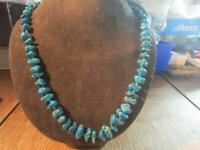 Lovely Vintage Quality Natural Turquoise Nuggets Necklace