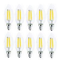 E12 E14 Dimmable Edison Filament Ampoule 2W 4W 6W LED Lumière Lampe Bougie