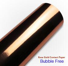 Gloss Rose Gold Decor Contact Paper Bubble Free Wrap Self Adhesive Vinyl Film