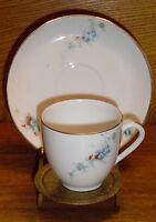 Porcelain Demitasse Cup & Saucer Set - Small Flowers