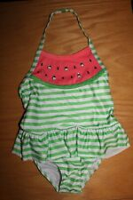 NWT Gymboree Swim Shop 2017 Size 5T Green Striped Watermelon Swimsuit