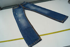 TRUE RELIGION Damen Jeans Hose 29/32 W29 L32 stone wash blau used look TOP #94
