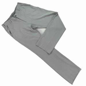 Adidas Golf Pants Men 33 x 34 Gray Flat Front Polyester Spandex Straight Leg