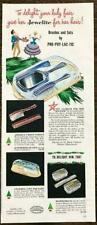 1948 Jewelite Brushes and Sets Christmas Print Ad Gift To Delight Your Lady Fair