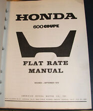 Honda AZ600 Coupe Flat Rate Manual 45 Pages 1972 Revision