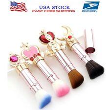 Hot Sailor Moon Face Powder Foundation Blush Professional Makeup Brush Set 4Pcs