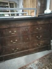 commode XIX siecle acajou époque restauration 19th century mahogany chest of dra