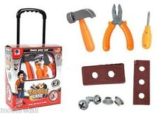 Kids DIY Tool Set PULL ALONG CARRY CASE Builder Construction Children Role Play