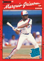 Marquis Grissom 1990 Donruss #36 Montreal Expos RC Rookie Baseball Card