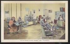 Postcard ASTI CA  Swiss Colony Winery Reception Room Lounge Interior 1940's