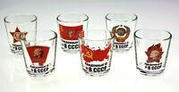 Born in the USSR Set of 6 Shot Glasses - 1.7 oz Soviet USSR Vodka Glassware (H3)
