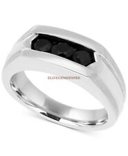 Natural Black Onyx Gemstone with 925 Sterling Silver Ring for Men's EG1280