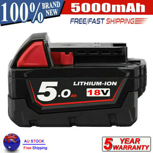 New For Milwaukee 48-11-1850 M18 LITHIUM XC 5.0Ah Extended Capacity Battery Pack