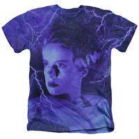 The Bride Of Frankenstein Universal Monsters Licensed Blue Heather Adult T-Shirt