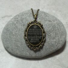 Wiccan Rede Pentagram Necklace Pendant Jewelry Wicca Antique Bronze