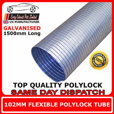 "102mm (4"")  Universal Flexible Exhaust Repair Tube Polylock Galvanised 1.5M"