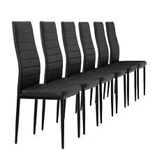 [en.casa] Chaise de salle à manger noir Ensemble 6 salon à cuisine