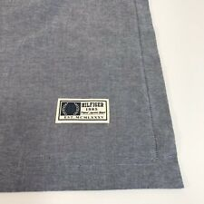 TOMMY HILFIGER THROW PILLOW COVER DENIM BLUE 22 x 22 chambray NWOT