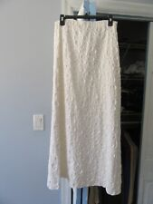 Stunning Celine Paris  Cotton White Skirt  France Size 40