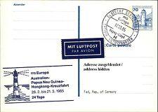 Schiffspost Stempel Schiff MS EUROPA Australien-Paqua Neu Guinea Hongkong Reise