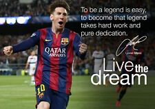 Lionel Messi Barcelona Poster #24 - Motivational inspirational quotes A4