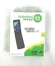 Cricket Wireless Alcatel Quickflip Prepaid Cell Phone (Brand New)