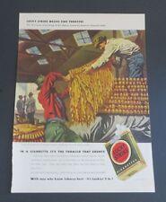 Original 1942 Print Ad LUCKY STRIKE Cigarettes Georges Schreiber Tobacco Art