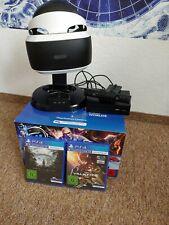 WIE NEU PS4 VR Brille + Kamera (komplett mit OVP) + Ladestation + 2 Spiele