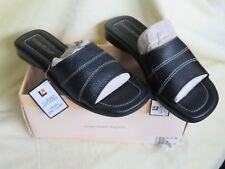 Montego Bay Black Pebble Brazil Leather Mule Slip On Sandal US 7 1/2  Eur 39.5