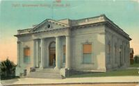 Wabash Indiana~Government Building~US Post Office~1910 Postcard