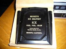 ICE DELIVERY ICE FEED FUEL GRAIN  Modesto, Ca. ICE PICK COUPON  NEW IN BOX NOS