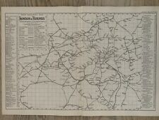 More details for 1886 london railway map original antique map by g.w. bacon