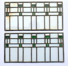 Antique Vintage LEADED GLASS Pantry Door Panels