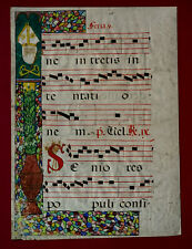 Illuminiertes Antiphonarblatt