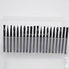 "1/8"" Tungsten Carbide Rotary Burr SET 3.175mm Shank Milling Cutter 20 Pcs/Box"