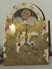 Antique 1800's New England Grandfather Clock Long Case Mechanical Clock Movement