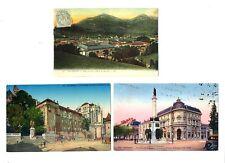 CPA 7 Savoie Chambéry lot de 3 cartes