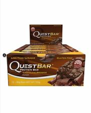12 x 60g QUEST BAR Nutrition Protein Bars CHOCOLATE BROWNIE