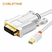 Cabletime Mini DisplayPort DP to DVI-D Cable Adapter Converter HD 1080P 3D 9FT