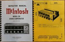 McIntosh C20 SERVICE MANUAL / OWNERS MANUAL early version