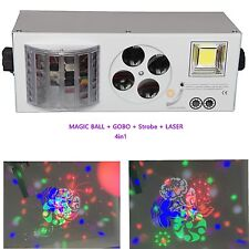 LASER STROBE PATTERN MAGIC BALL 4 IN1 LED LIGHT FOR STAGE PARTY DJ DISCO WEDDING
