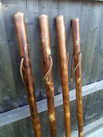 RUSTIC HIKING WALKING STICKS CANES THICK CHESTNUT WOOD FARMERS WALKING STICK