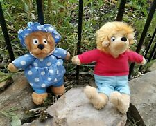 2 SET THE BERENSTAIN BEARS MAMA BEAR STUFFED PLUSH DOLL BROTHER BEAR