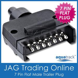 7 PIN FLAT MALE TRAILER CONNECTOR PLUG - Boat/Auto/Caravan/Car/Truck/RV